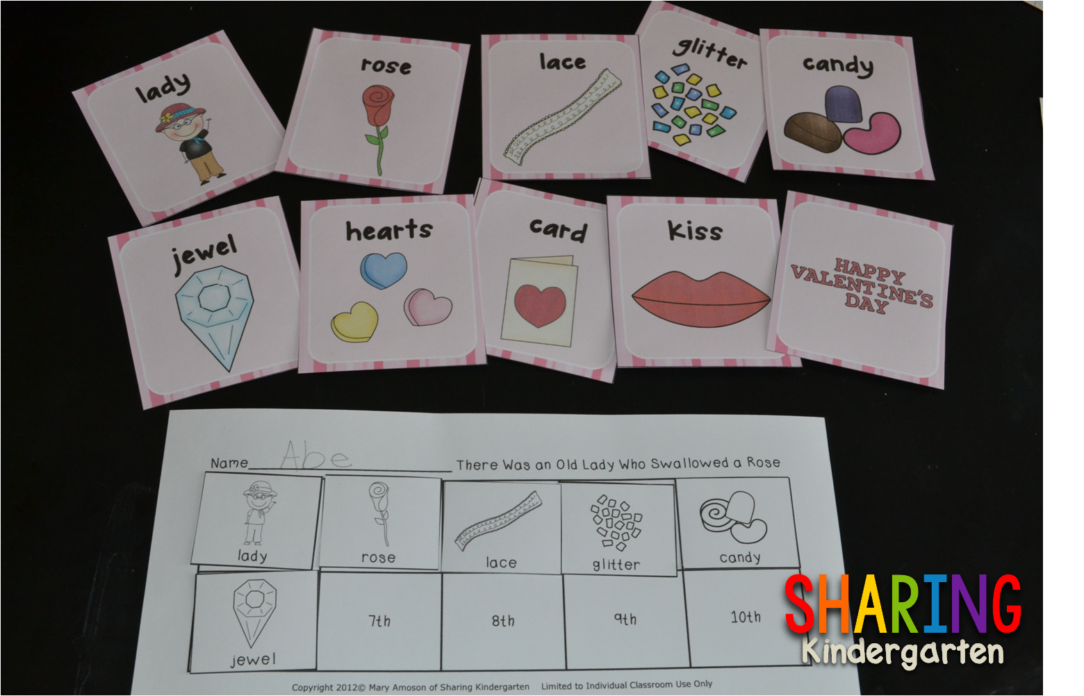 http://www.teacherspayteachers.com/Product/There-Was-an-Old-Lady-Who-Swallowed-a-Rose-Literacy-and-Math-462297