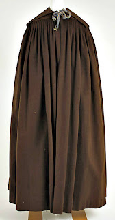 Cloak-rectangular with wide collar-front view