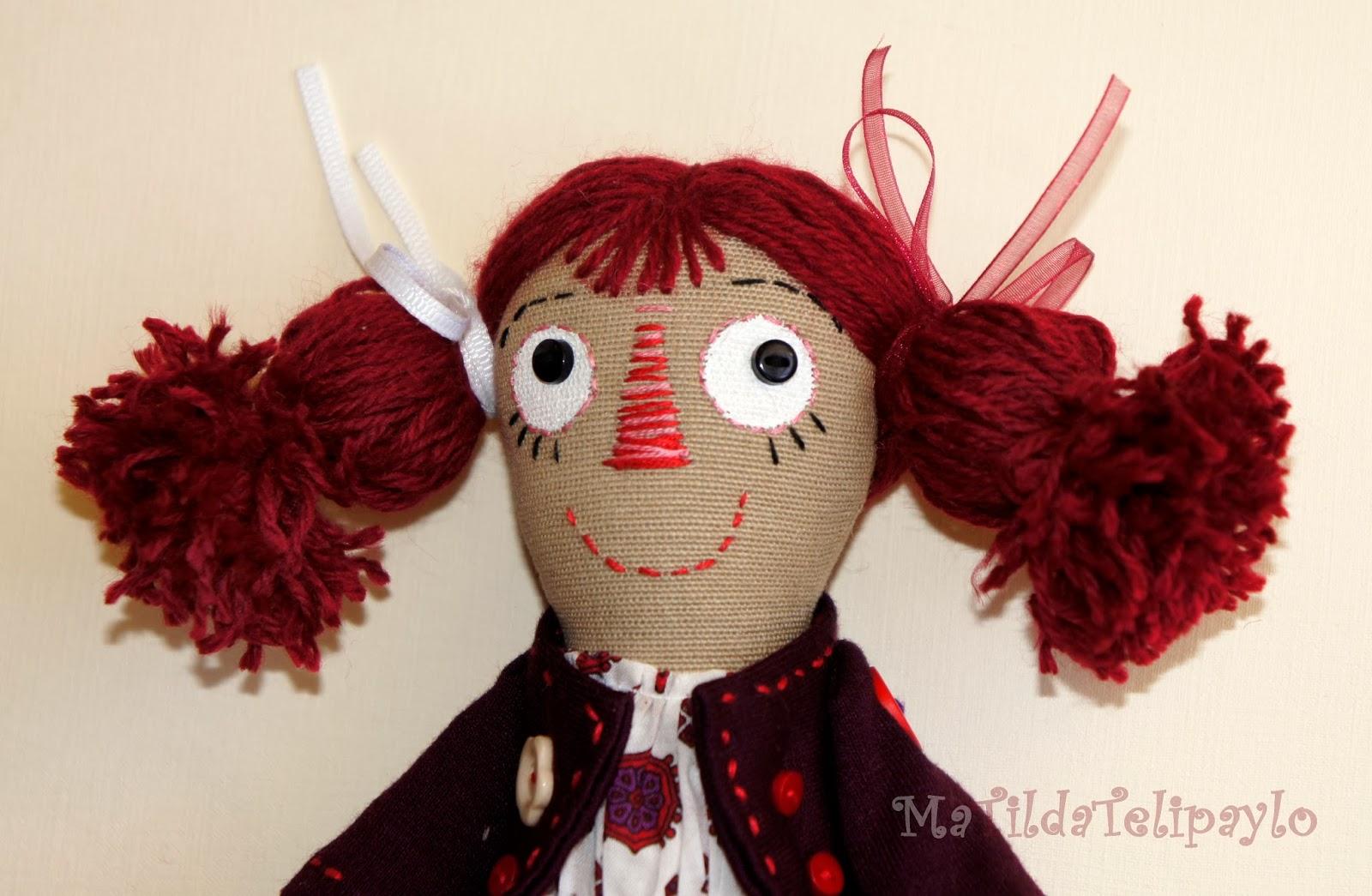 Авторская текстильная кукла Юли Телипайло