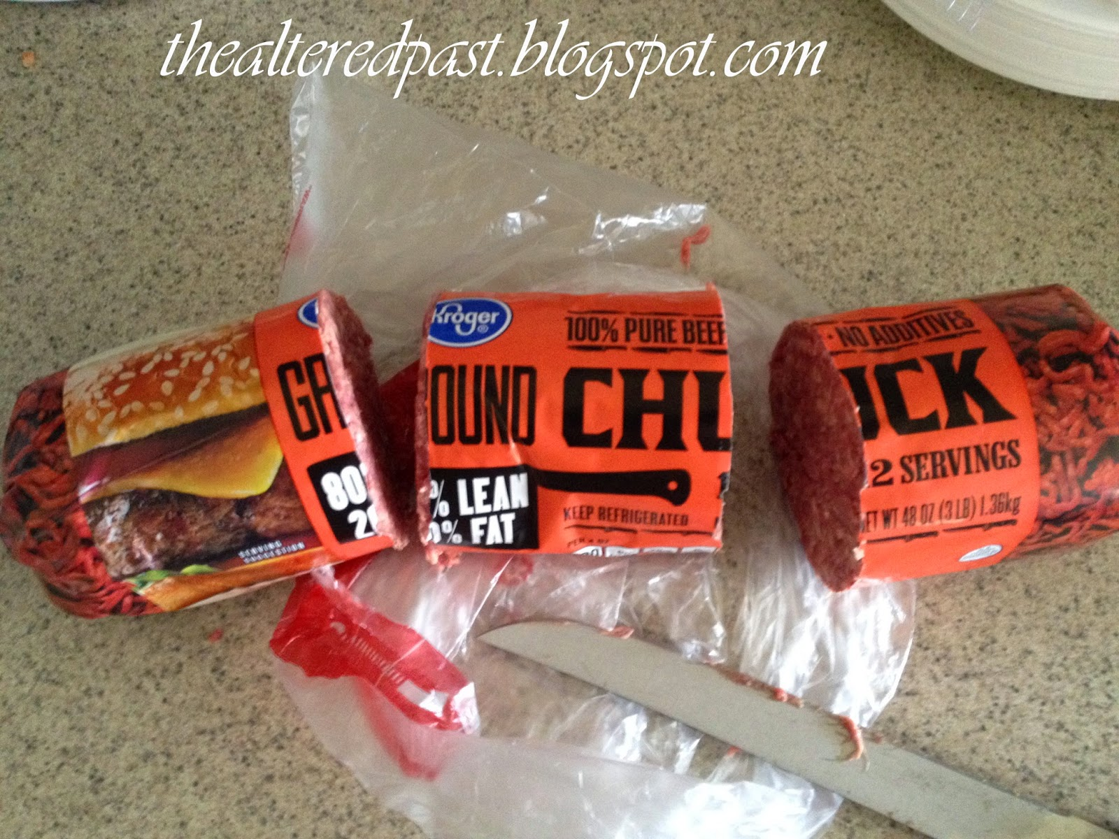 quick and easy tip for repackaging bulk beef for freezing