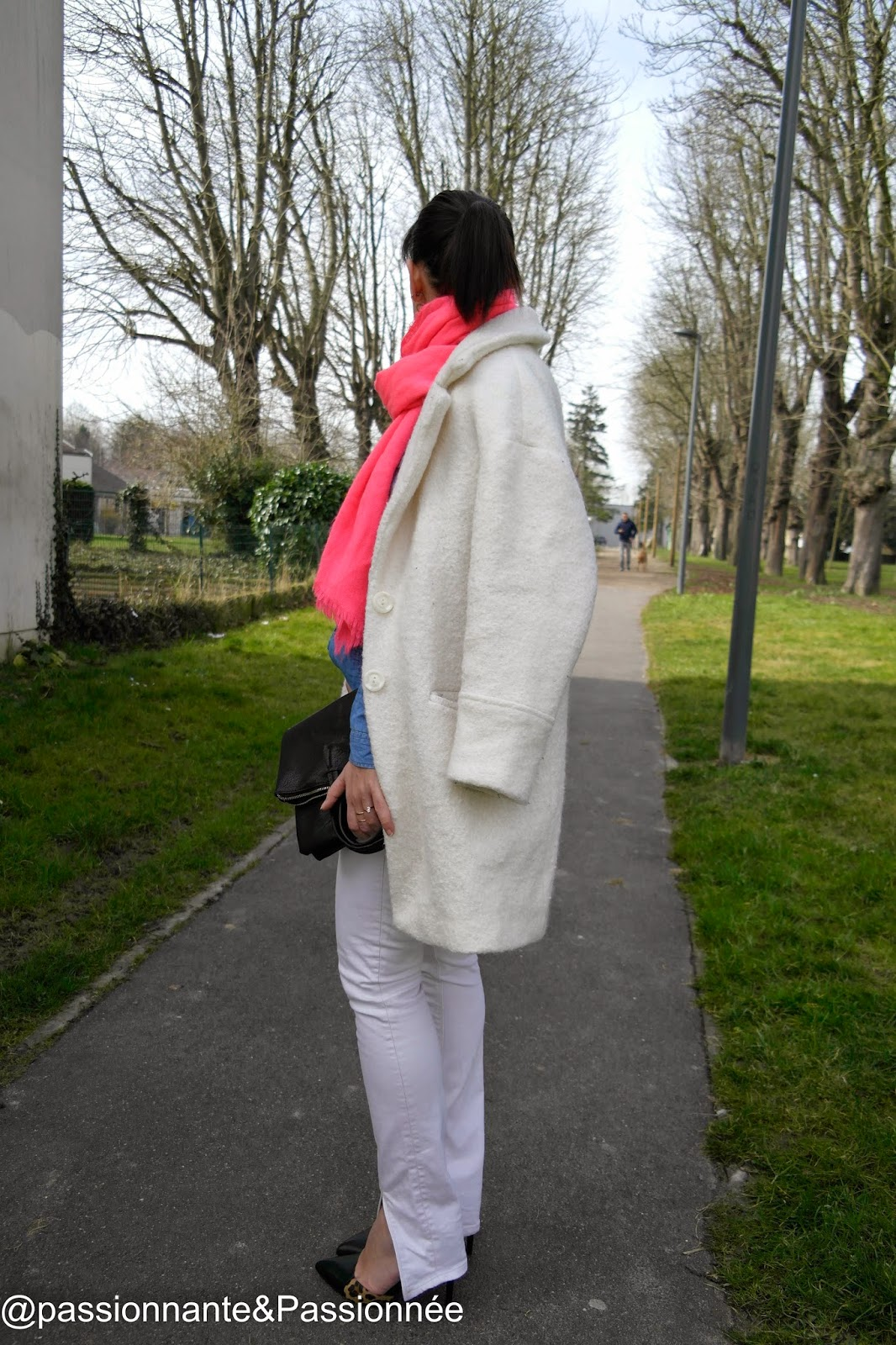 Manteau mi-long blanc