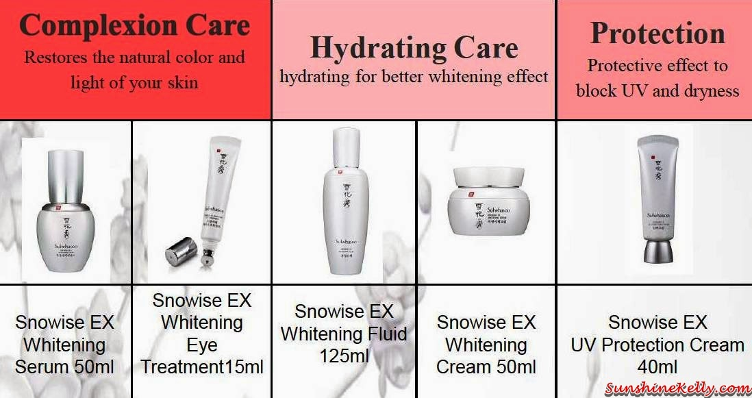Sulwhasoo Snowise EX Whitening Series, Sulwhasoo, Snowise EX Whitening, Skincare, korean skincare, Snowise EX Whitening Serum, Snowise EX Whitening Eye Treatment, Snowise EX Whitening Fluid, Snowise EX Whitening Cream, Whitening UV Protection Cream SPF47