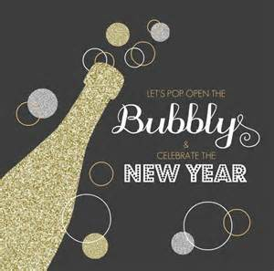 Simple Printabble New Year Party Invitation Card With Champagne