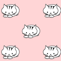 waiting cats pattern