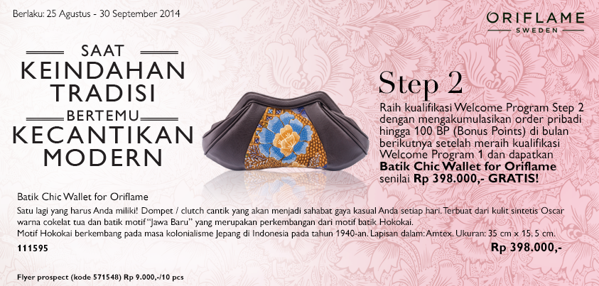 Daftar Member Oriflame September 2014 - GRATIS Produk Welcome Program 123 | 0817 649 0003