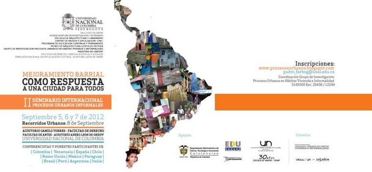 Mejoramiento Barrial como Respuesta a una Ciudad para Todos