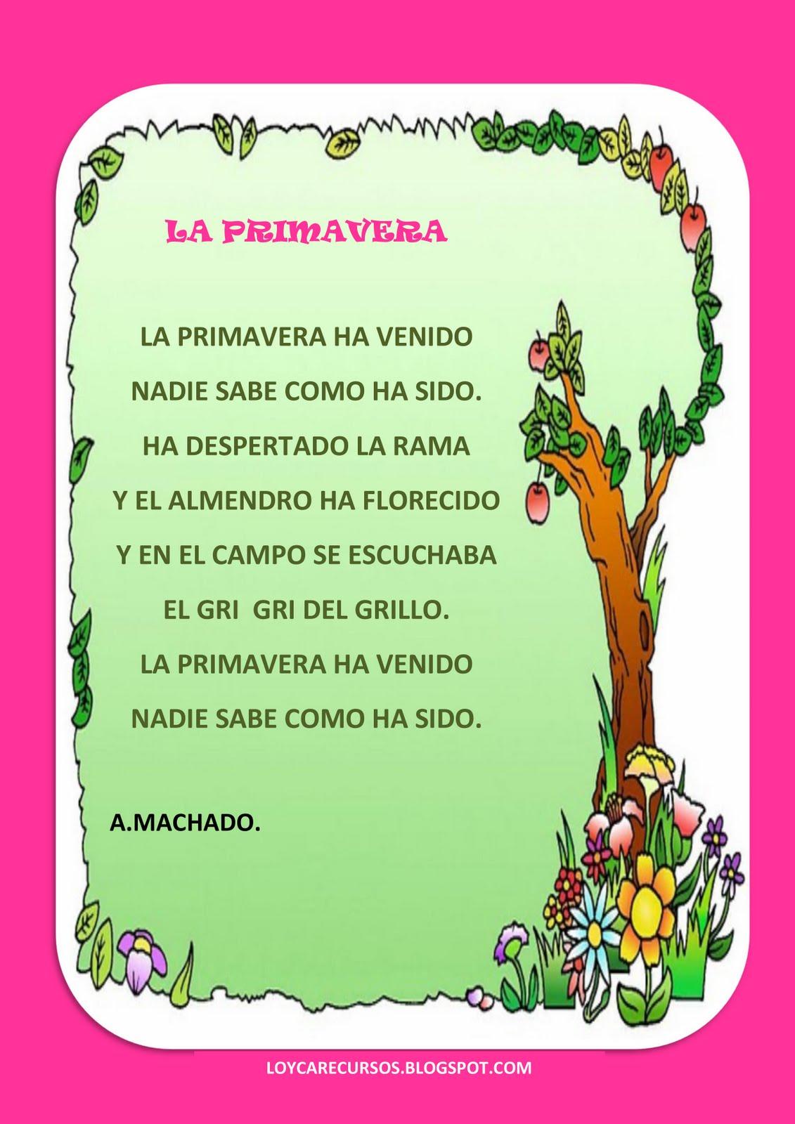 poesias primavera