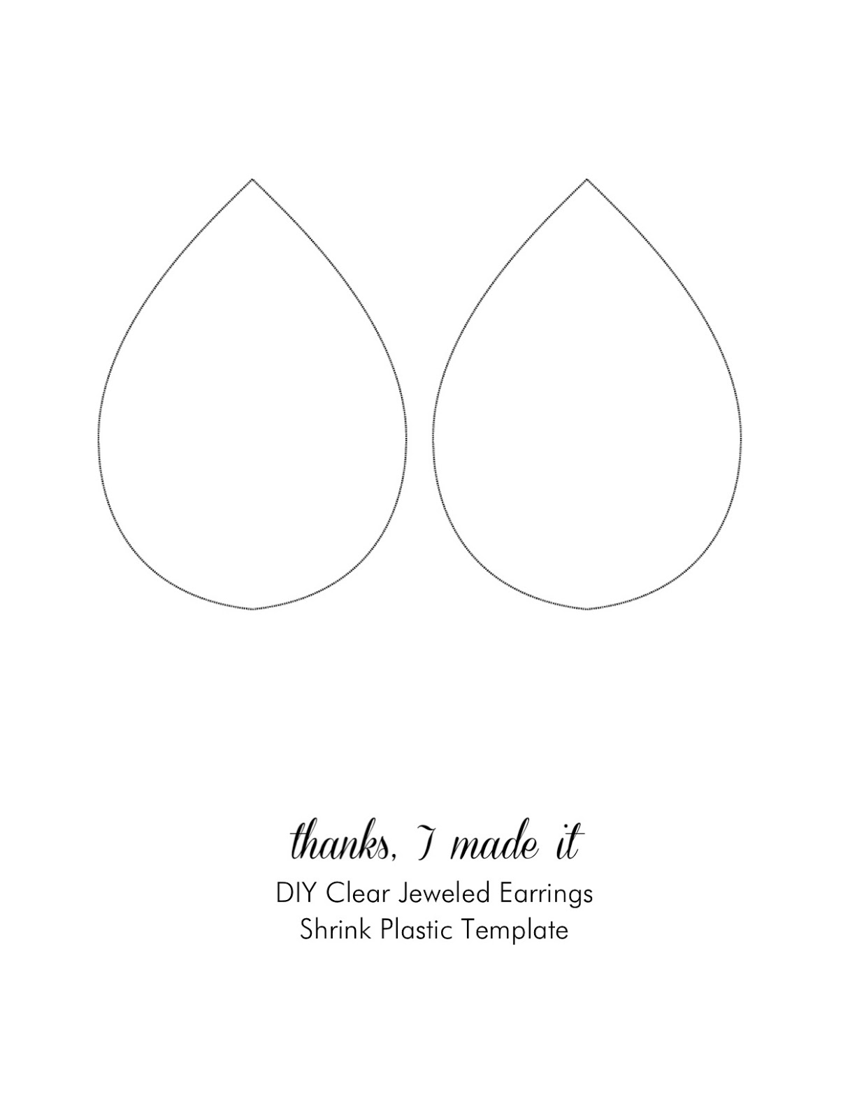 Thanks, I Made It : DIY Clear Jeweled Earrings