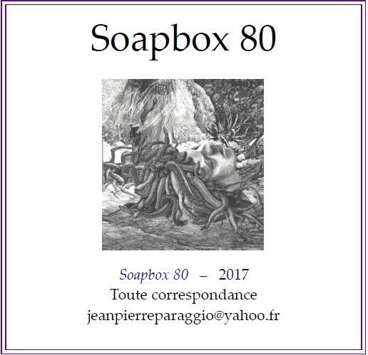 SOAPBOX 80, FEUILLET DE L'UMBO 2017 avec poésie de Pierre PEUCHMAURD
