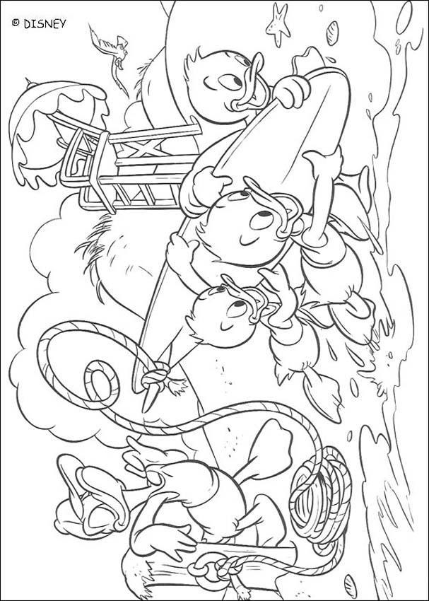 a desenhar pato donald e seus sobrinhos colorir