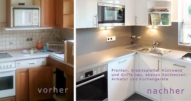 Küchenrenovierung Vorher Nachher ~ Küche Fronten erneuern, Küchenrückwand tauschen und moderne