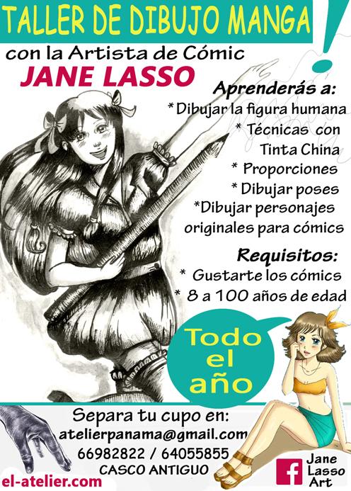 Afiche de Taller de dibujo manga en Panamá
