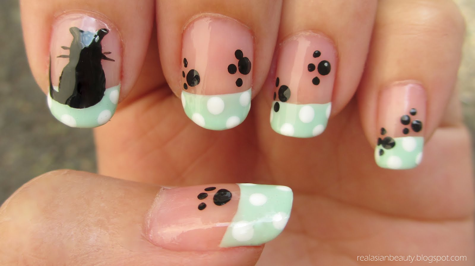 Real Asian Beauty: Kitten and Paws Nail Art