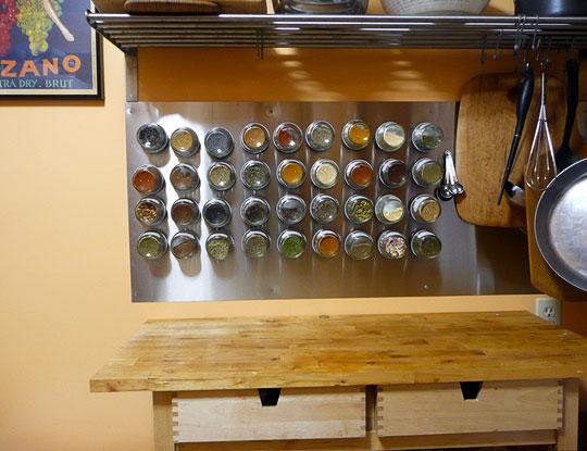 キッチン ikea キッチン 収納 ブログ : Wall Mounted Magnetic Spice Rack