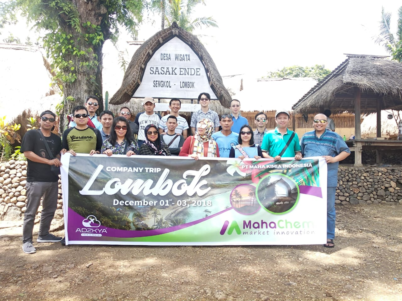 LOMBOK TOUR 01-03 DES 2018 WITH PT MAHAKIMIA CHEMICAL INDONESIA
