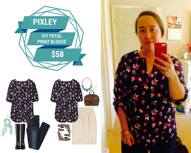 Pixley Ivy Petal Print Blouse