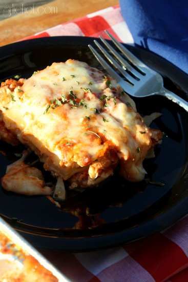 Lasagna w/ Turkey Meat Sauce