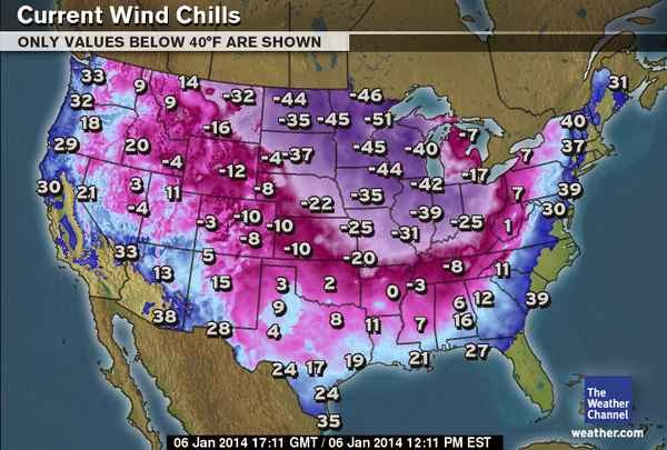 extreme cold across the midwest in Chicago business closed for the day