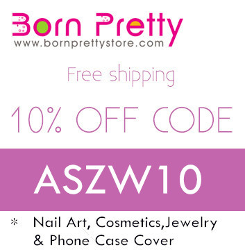 10% off and free shipping for Born Pretty Store with code ASZW10