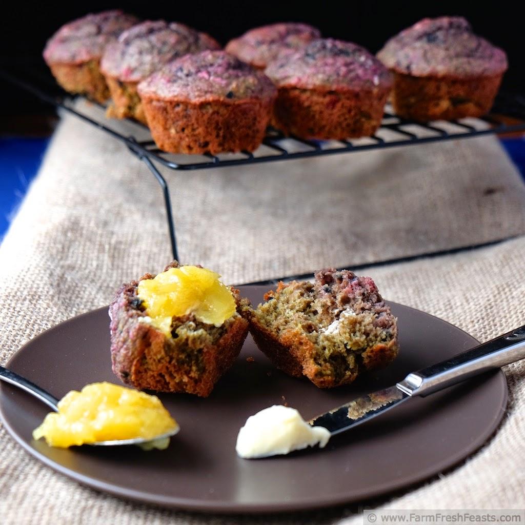 Blueberry Beet Honey Oat Muffins | Farm Fresh Feasts