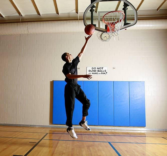 Obama Entertainment Barack Obama Playing Basketball