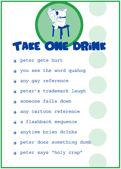 Drinking Games: Family Guy Drinking Game