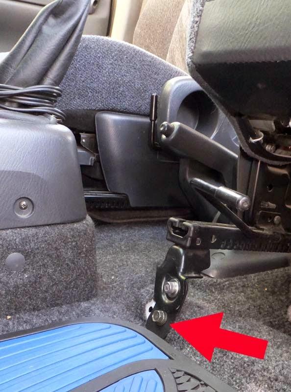 Custom car seat bracket