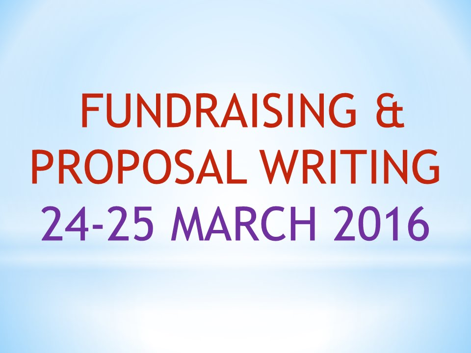 8. Fundraising & Proposal writing