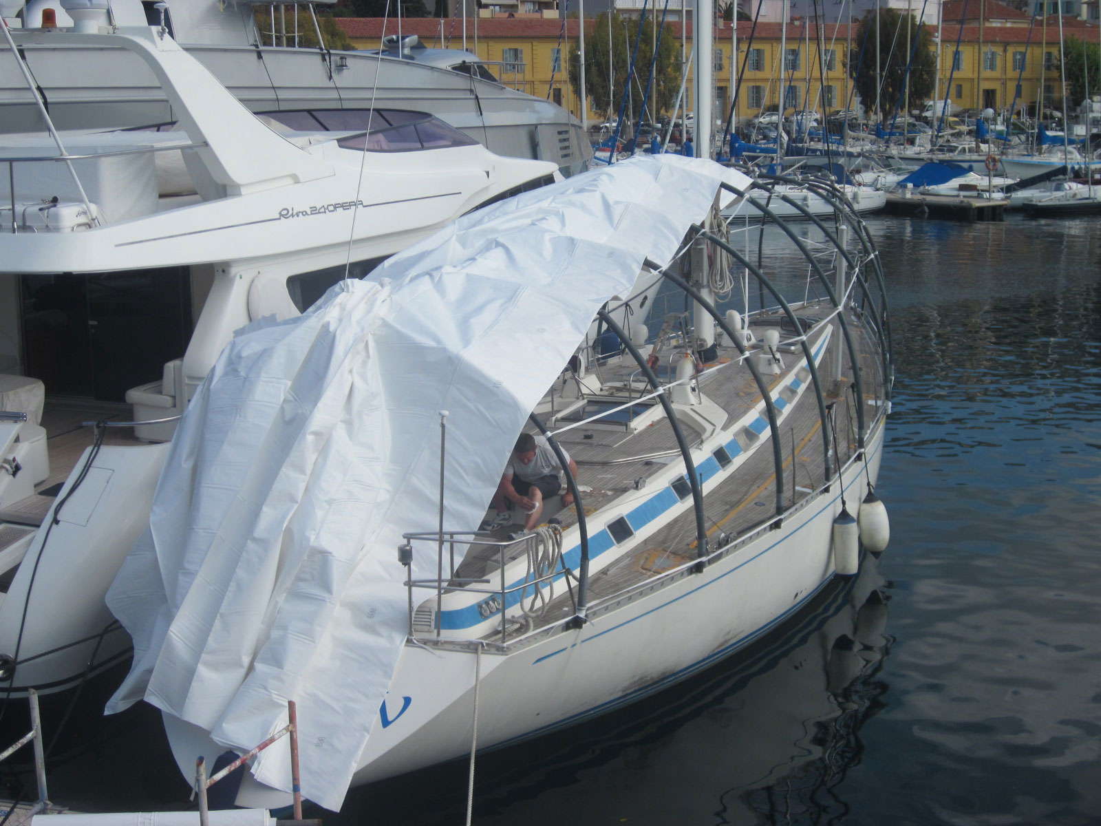 Nautor S Swan Villefranche A New Teak Deck For Swan 59