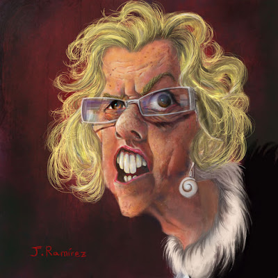 Manuela Carmena Dibujo Caricatura