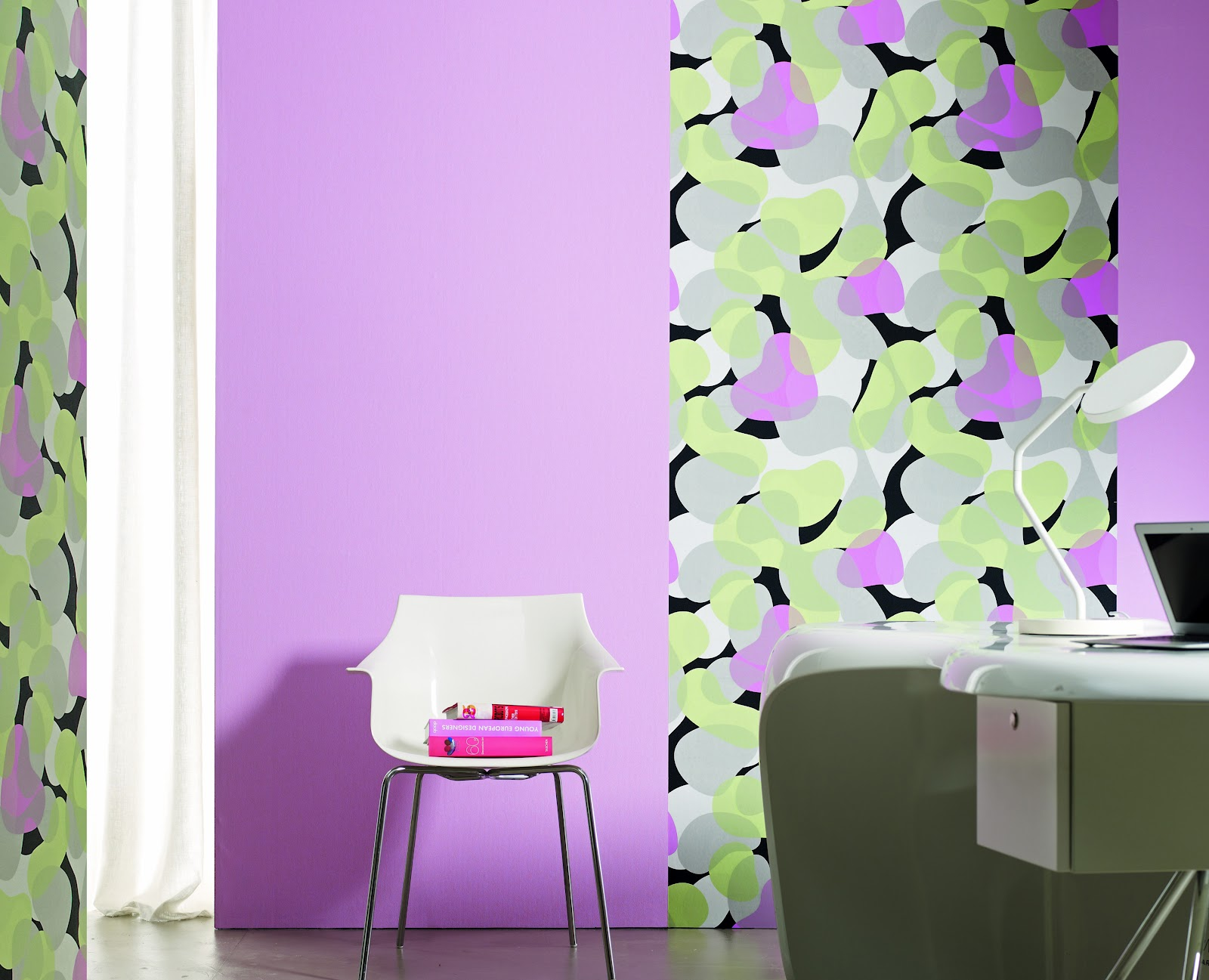Combinar Papel Y Pintura En Paredes Affordable Dormitorio Pared