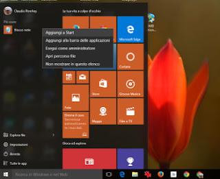 opzioni da modificare subito in windows 10