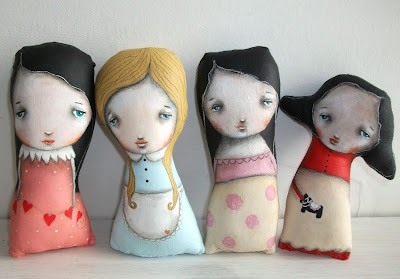 Painted Art dolls by Micki Wilde