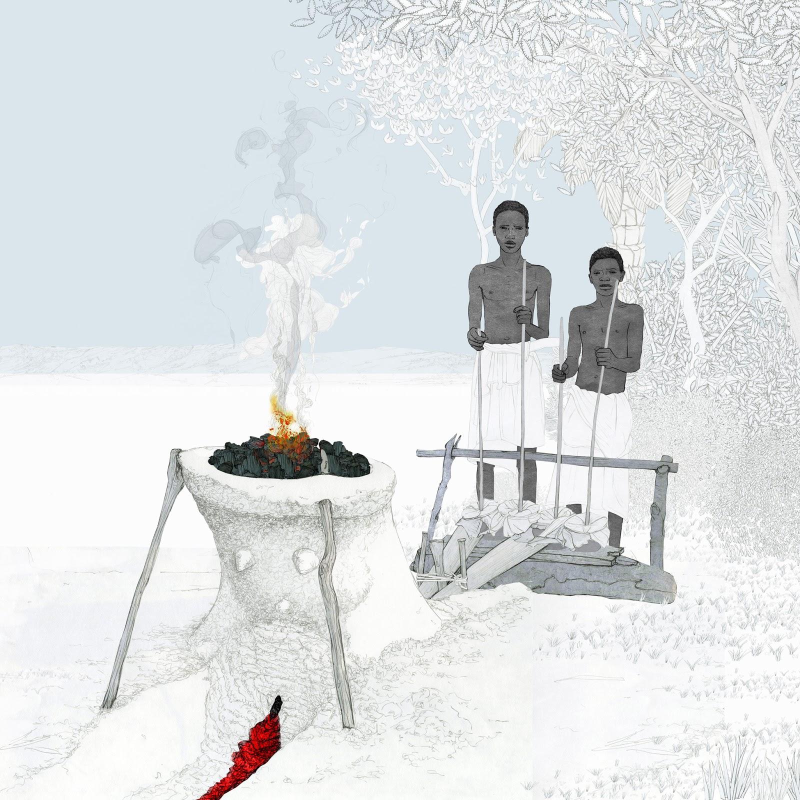 horno fundición, minerales, ilustración