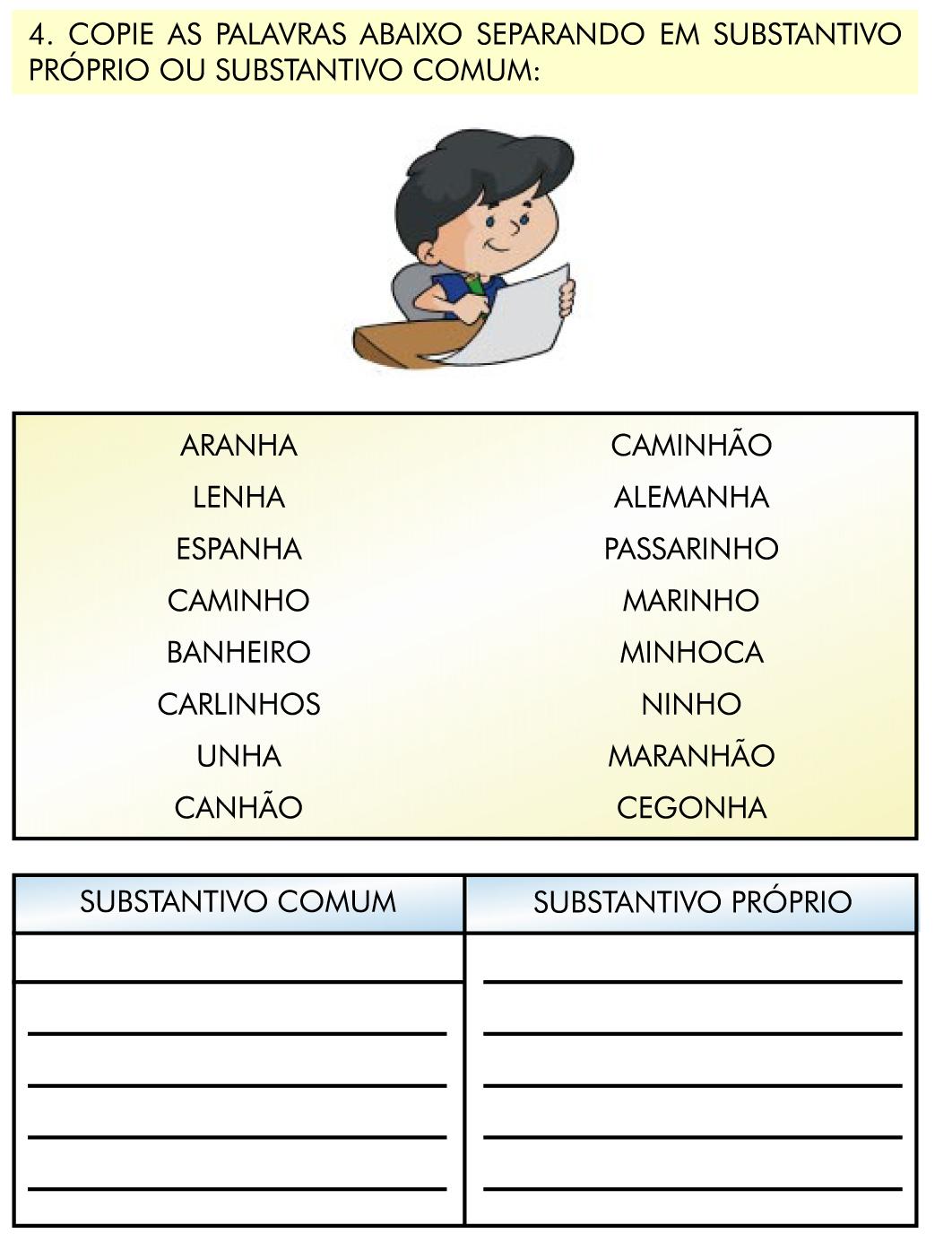 30 Substantivos comuns