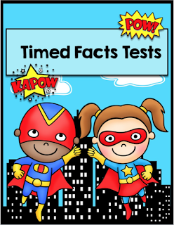 Multiplication Superheroes Timed Facts Tests
