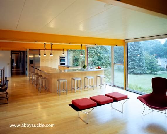 Vista del interior de la casa, open plan