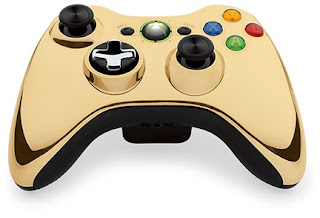 Xbox 360 mando cromo oro