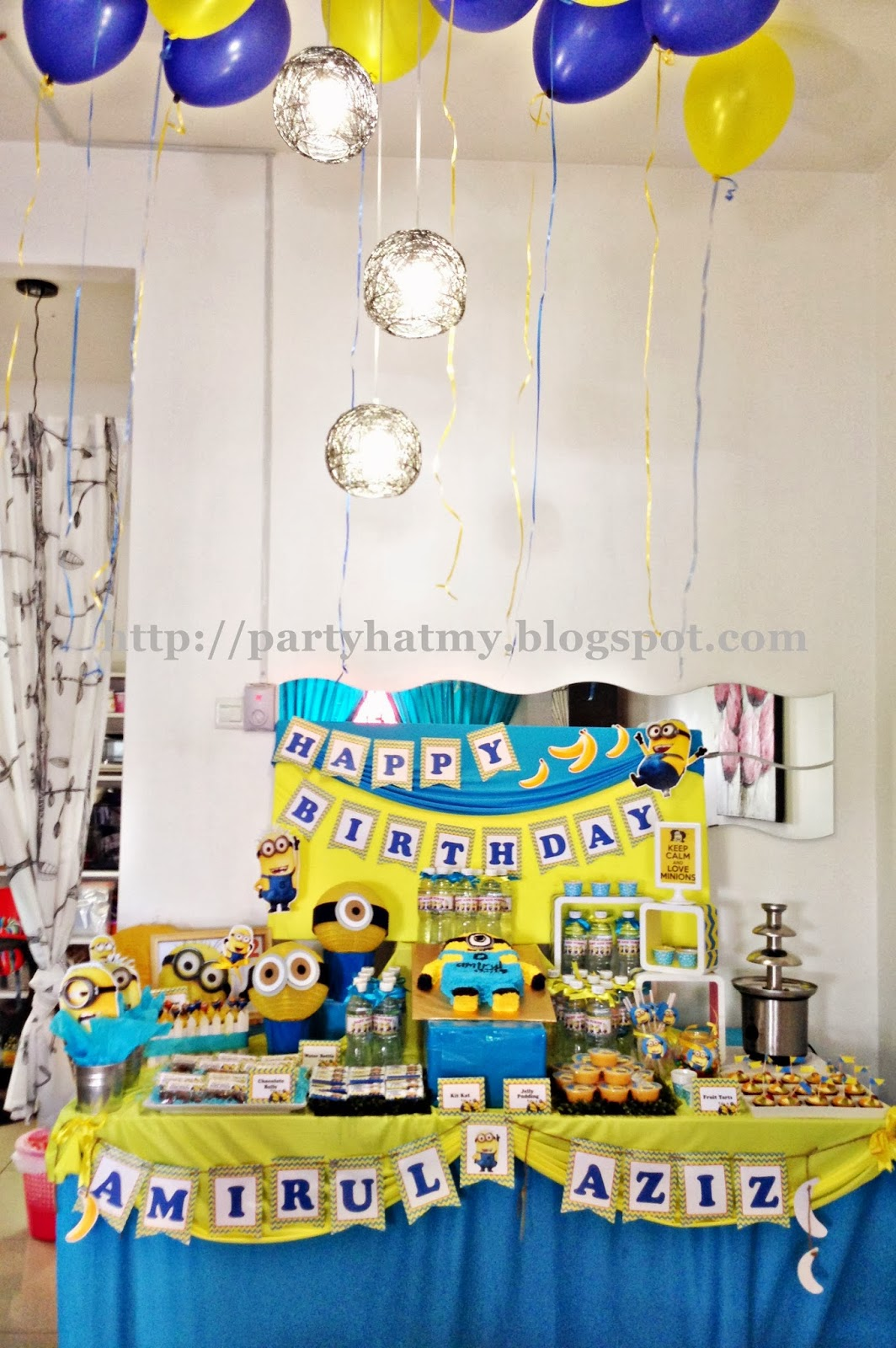 It was a rush order for aina to organise a minions theme birthday