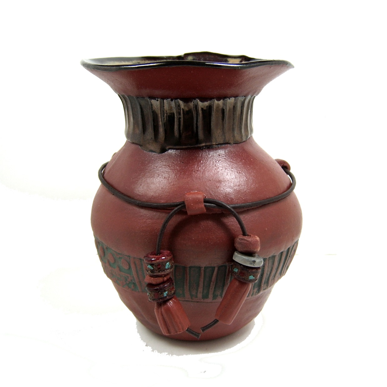 Pinch Strip Earthenware Pot