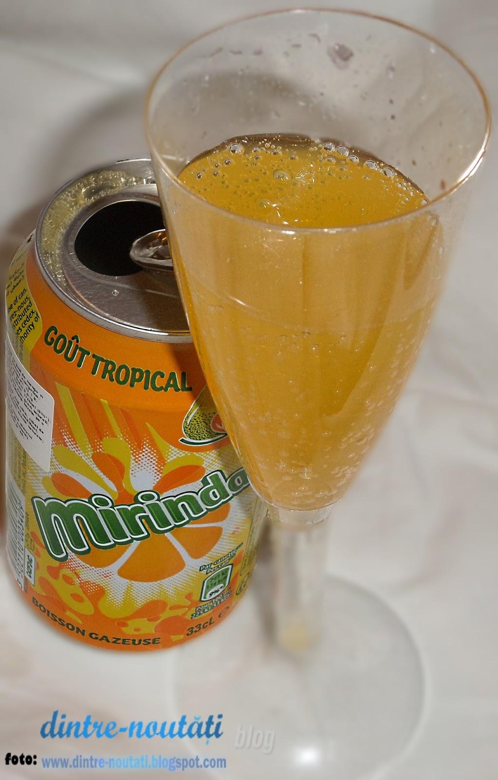 mirinda GOÛT TROPICAL acum în România - Băutură răcoritoare carbogazoasă cu gust de mango și mandarine