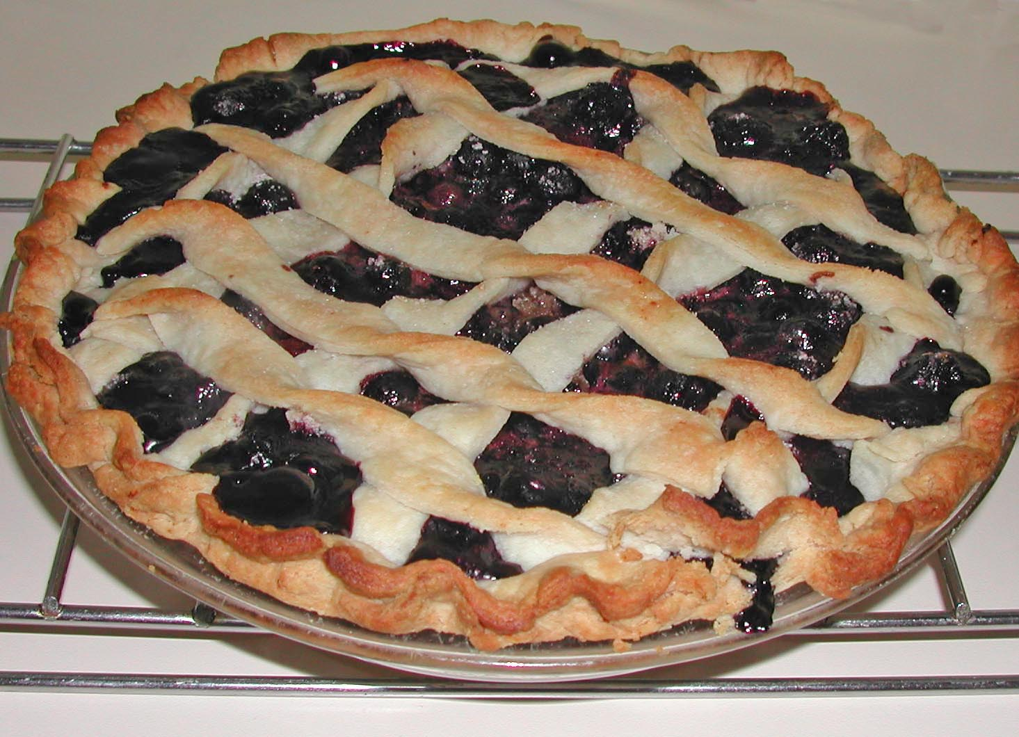 make blueberry pie when the blueberries are in season. I do freeze ...