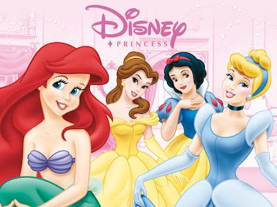 Desenho Princesas Disney colorido