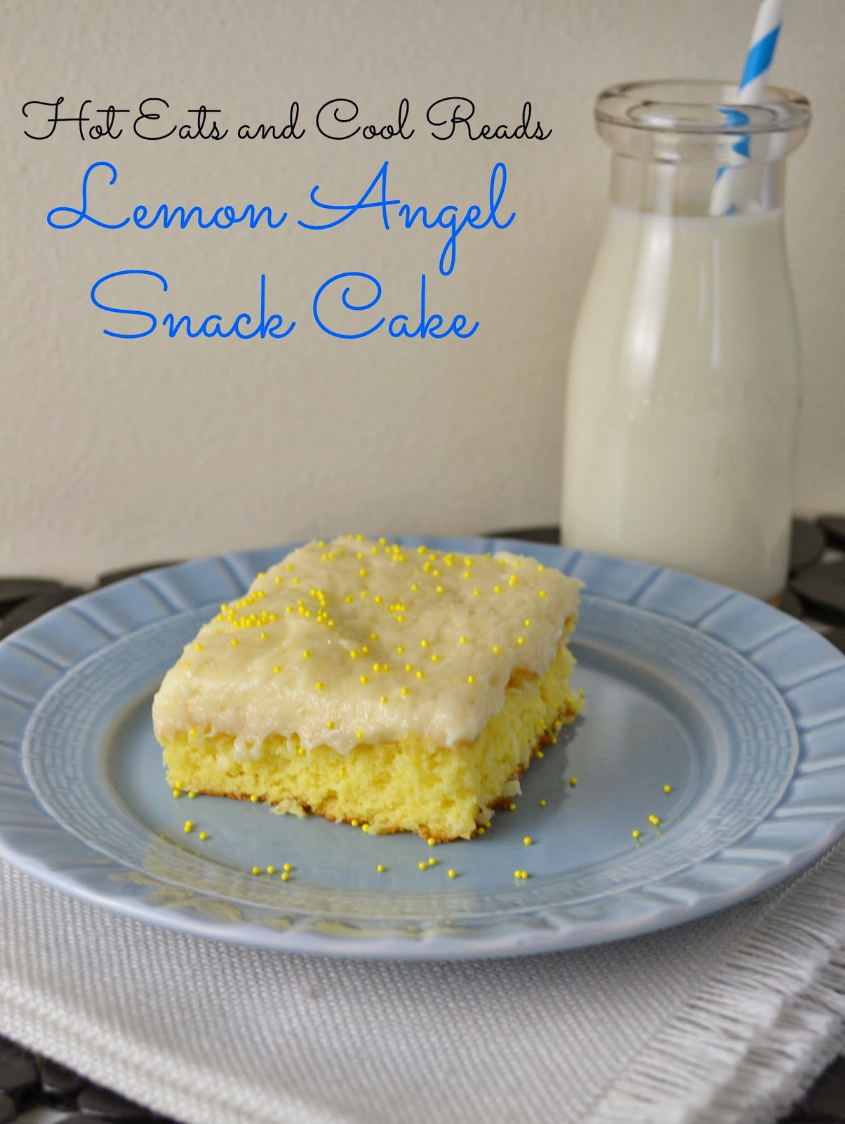 Lemon Angel Snack Cake with Cream Cheese Frosting Recipe