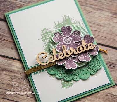 Celebrate Card featuring Flower Shop Stamp Set and other Stampin' Up! UK products - get them here