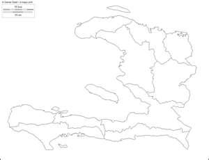 Mapa mudo por departamentos de Haití