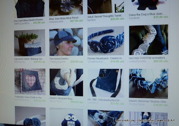 My denim necklace from my ReStyle Studios Etsy shop was featured in an Etsy Treasury!
