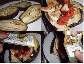ensalada tibia de berenjenas