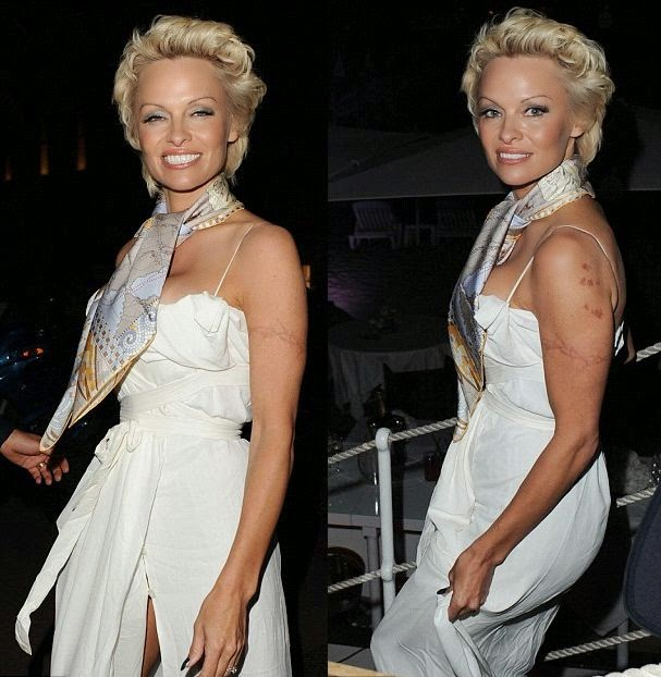 I think she was work hard to look this good as Pamela Anderson attended the launch of herself Foundation charity on Friday, May 16, 2014.
