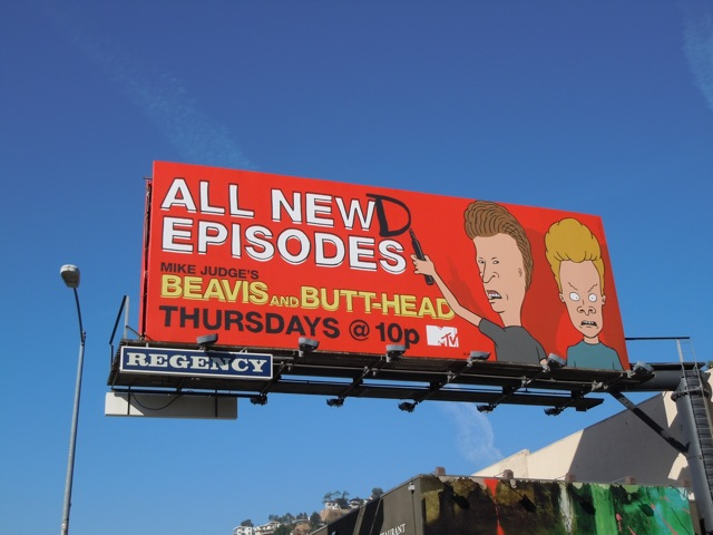 Beavis and Butt-Head All Newd billboard